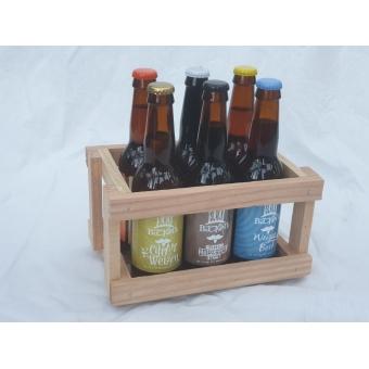 Mini krat met 6 verschillende bieren à 33cl